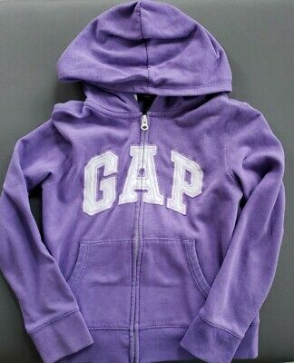 Girls GAP Hoodie Sweatshirt Purple Size Large 10/12