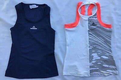 Set Of Two Racerback Adidads Stella McCartney Barricade Fitted Workout Tops XS