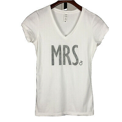 Women/'s Fitted T-Shirt Bachelorette Wedding Crossed Out Miss New Bride Mrs