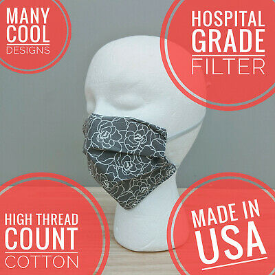 MAXIMUM PROTECTION Reusable Face Mask with MERV-16 super-dense filter inside