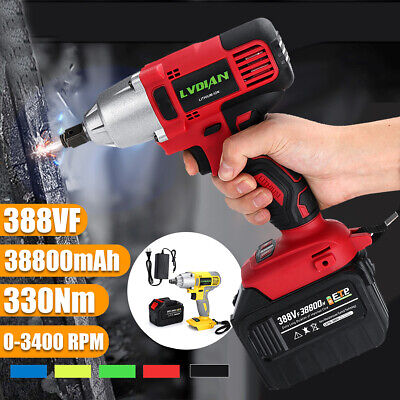 1/2'' Cordless Impact Wrench Drill Drive Rattle Gun Chuck Socket Lithium-Ion
