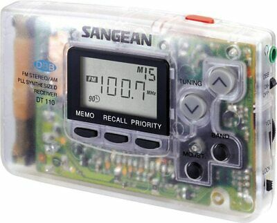 Sangean Dt-110C Amfm Pocket Radio Clear (NEW)