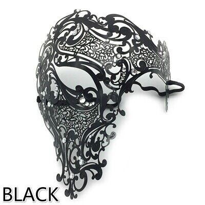 Black Filigree Metal Cleopatra//Egyptian//Venetian Masquerade Party Mask NEW *