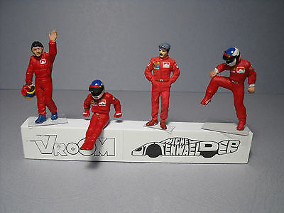4  FIGURINES  1//43  SET 39  PILOTES  DRIVERS  WITH  FACE  1970  VROOM  NO SPARK