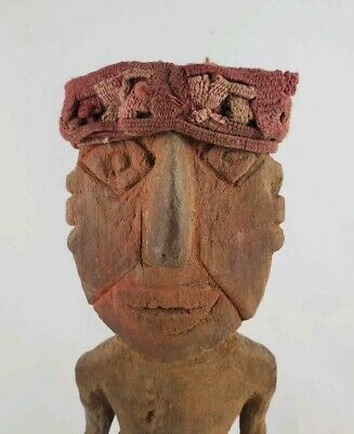 Ancient CHANCAY Wooden Figure, Precolumbian, Moche, Inca Maya MAKE AN OFFER