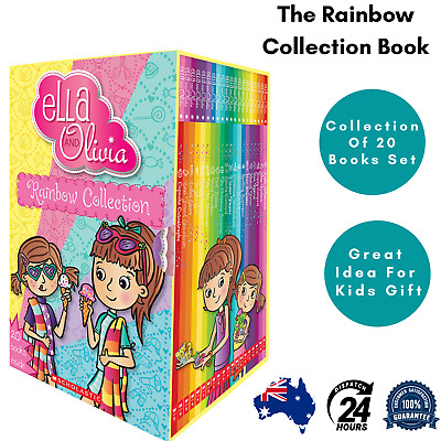NEW Ella and Olivia: The Rainbow Collection 20 Books Set by Yvette Poshoglian