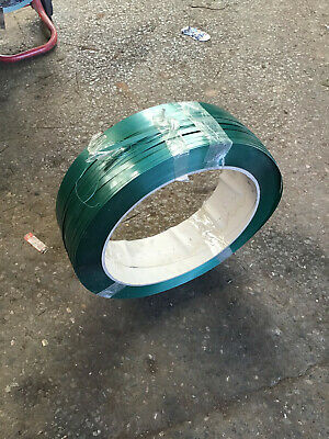 Unused Reel of 12mm Wide Heavy Duty Plastic Strapping - Green