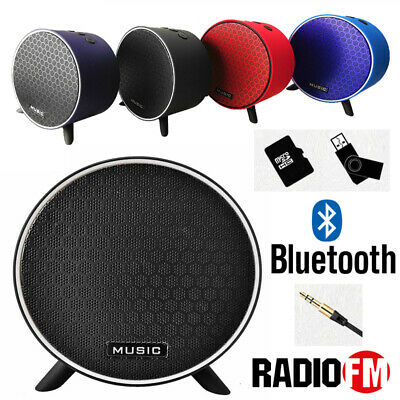 Radio Portatile Bluetooth Cassa Ricaricabile Speaker Wireless Fm Slot Tf Usb Sd