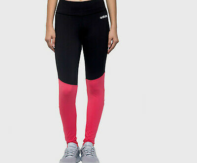 Girls ADIDAS training cardio Leggings black real pink Climacool age 8 - 12 NEW