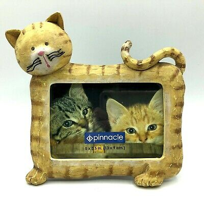 Unique 3D Resin Cat Kitten Paw Whiskers Photo Picture Frame 5x3.5