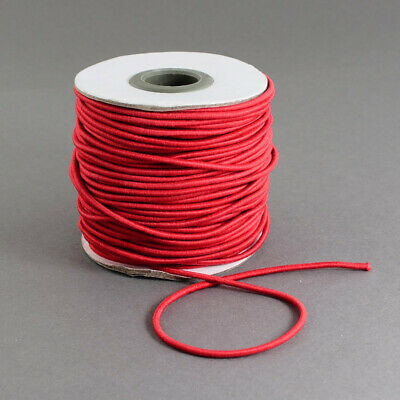 45m/roll 100m/roll Round Elastic Cord 1mm 1.5mm Widths Cord  Red