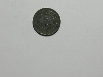 Old Belgium Coin - 1916 5 Centimes - Circulated