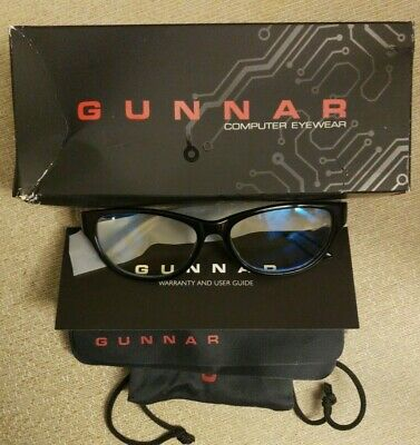 Gunnar Optiks Computer Gaming Glasses Onyx Frame/Liquet Lens Jwl-00109-1.0