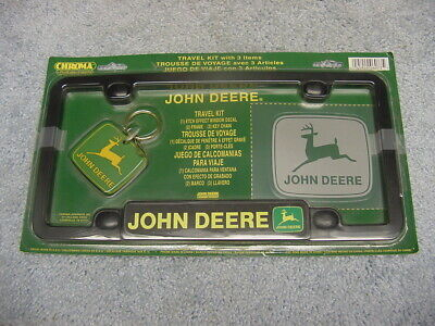 Chroma John Deere Travel Kit License Plate Frame Keyring Nip