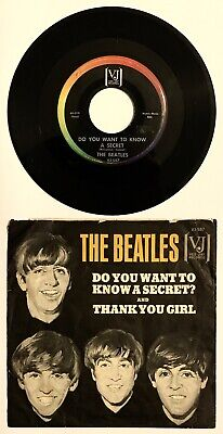 Beatles: Do You Want to Know A Secret 1964 Orig w/Sleeve Vee Jay 587 VG/VG+ Rare