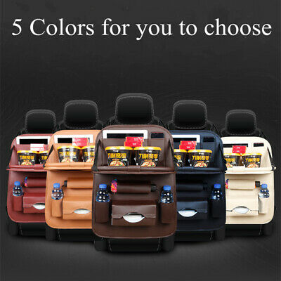 Car back seat cover with multi storage pocket organiser / foldable tray table AU
