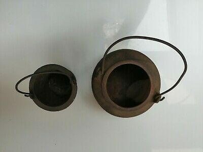 VINTAGE CAST IRON Wolverhampton  GLUE POT DOUBLE LINER BOILER MELTING SMELTING