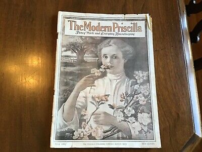 The Modern Priscilla Magazine May 1912, Pretty Girl Smelling Flowers