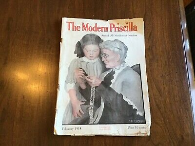 The Modern Priscilla Magazine February 1914 Grandmother/Granddaughter sewing