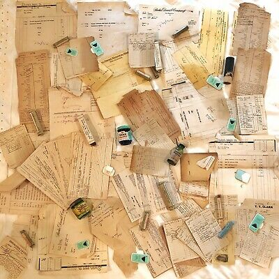 Antique Medical Junk Drawer Lot — Clinnic Attic Find — Oddities Doctors Papers