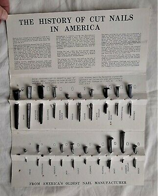 History of Cut Nails in America - Card Plaque - Tremont Nail Company