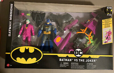 DC Batman missions Batman vs The Joker 80th Anniversaire 2 Pack ACTION FIGURES