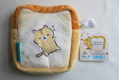 Corocoro Coronya San-X Cute Cat Kitty Bread Plush Pouch