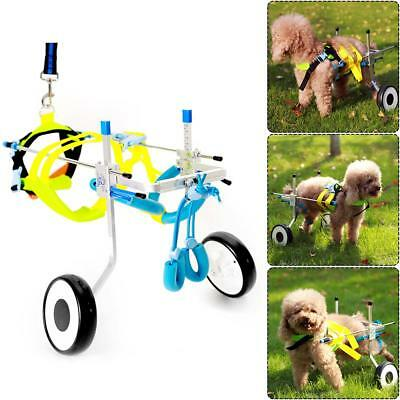 2 Wheel Pet Wheelchair Walk Assistant Kit For Handicapped Cat Dog Walker XS TG
