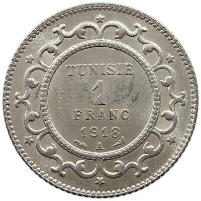TUNISIA 1 FRANC 1918 TOP  #oz 239