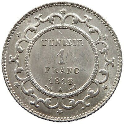 TUNISIA 1 FRANC 1918 TOP      #oz 229