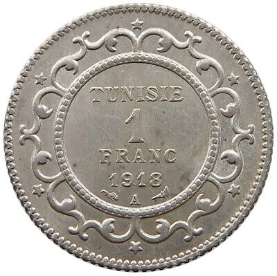 TUNISIA 1 FRANC 1918 TOP   #oz 227