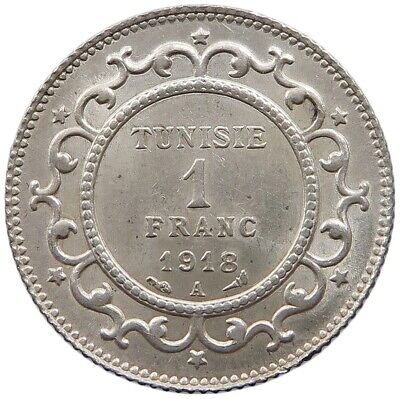TUNISIA 1 FRANC 1918 TOP    #oz 275