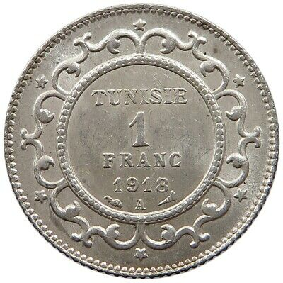 TUNISIA 1 FRANC 1918 TOP  #oz 247