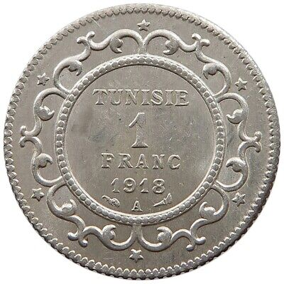 TUNISIA 1 FRANC 1918 TOP   #oz 225