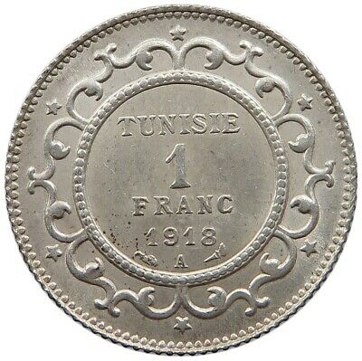 TUNISIA 1 FRANC 1918 TOP   #oz 237