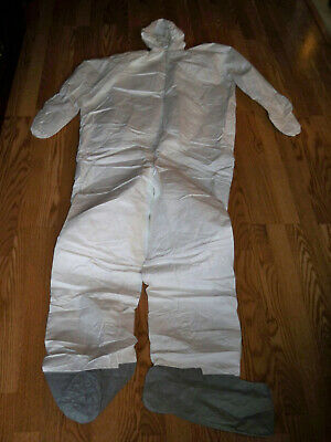 TYVAC Protective Suit Coverall Disposable Anti-droplets Clothing White Hazmat XL
