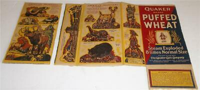 Vintage Quaker Cereal Box Backs  Travels With Time Series  Sets #1 and #6