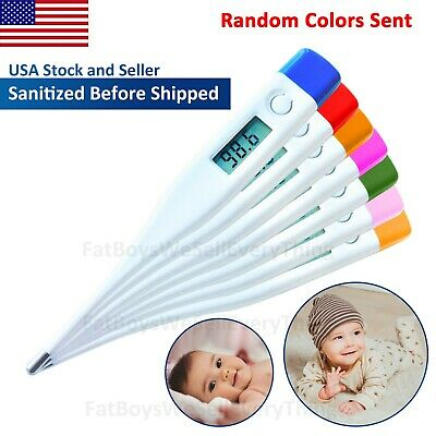 US Digital LCD Fahrenheit Thermometer Medical Adult Baby Oral Body Temperature