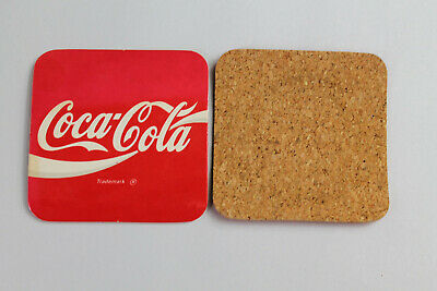 Vintage Square Coca Cola Advertising Coaster Cork Bottom