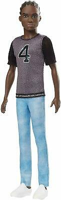 Barbie Ken Fashionistas Doll Los Angeles Sports '4' T-Shirt with Blue Jeans