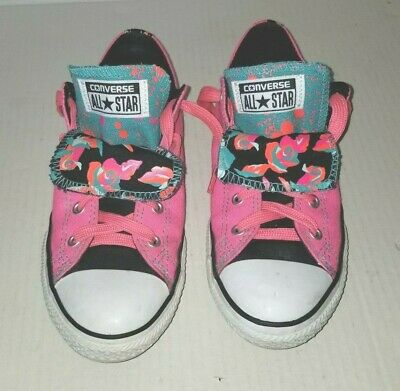 Nice Junior Girls  Pink CONVERSE ALL STAR Size 4  Lace Up Sneakers Shoes