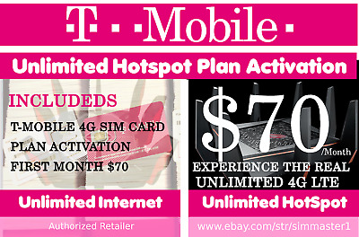 4G LTE JETPACK Truly Unlimited Data HOTSPOT Plan $50 NO CAPS T-mobile Rural