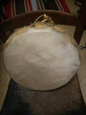 **Awesome Vtg  Native American Rawhide Drum Double Sided! Great Sound Shaman **
