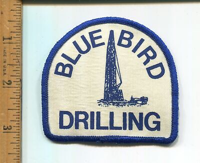 Blue Bird Drilling  Hat/Jacket Patch Oilfield  Vtg. Advertising Nice!!