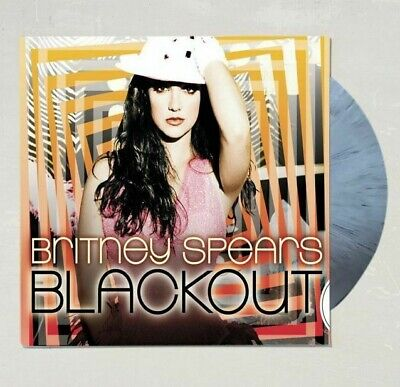 Britney Spears Blackout Limited Color Vinyl LP White Black Swirl Urban Outfitter
