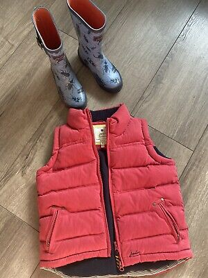 Joules Gillet Body Warmer Joules Wellies Size 12 Size 6 Boys Girls Horses Boys