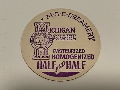 MICHIGAN STATE COLLEGE CREAMERY EAST LANSING MI. MILK BOTTLE CAP