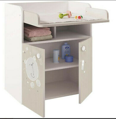 Polini Kids French 1270 Teddy Changing Unit - White-Pastel Oak