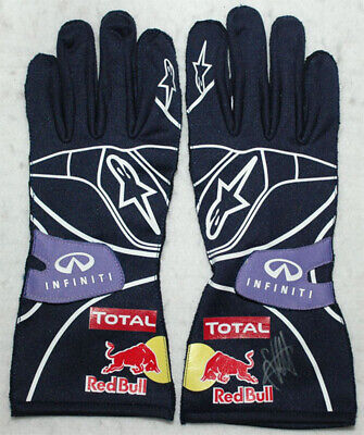 Sebastian Vettel Signed - Autographed - 2013 Replica F1 Gloves Pair With Proof