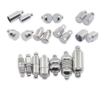 10pcs magnetic clasps stainless steel magnetic clasps with safe snap lock fit Bd